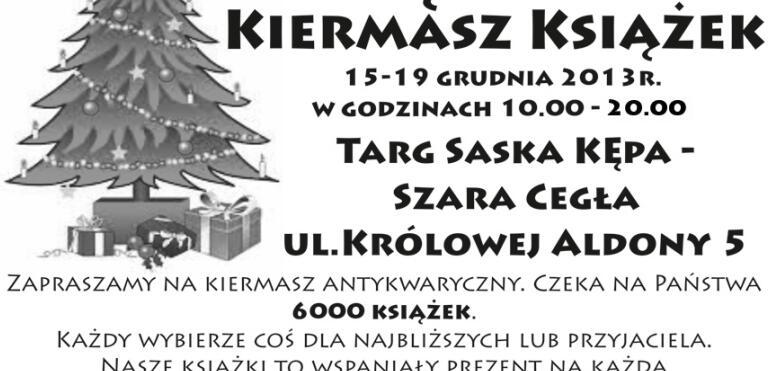 Świąteczny Kiermasz Książek w Szarej Cegle