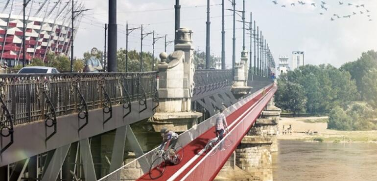 Kładka rowerowa na moście Poniatowskiego?