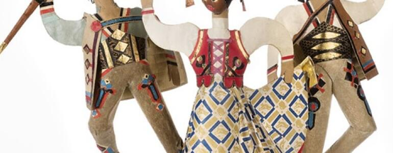 """fot.: <a href=""""http://www.krolikarnia.mnw.art.pl/wystawy/tata-rzezbiarz-zabawki-choinkowe-jozefa-goslawskiego,176.html"""" target=""""_blank"""">mnw.art.pl</a>"""