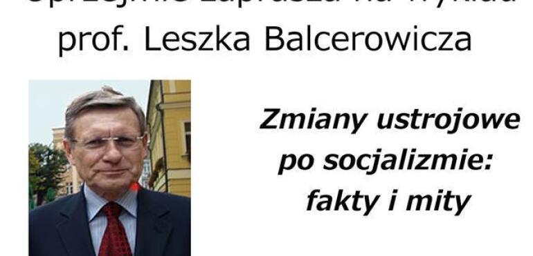 Prof. Leszek Balcerowicz w PROMie Kultury