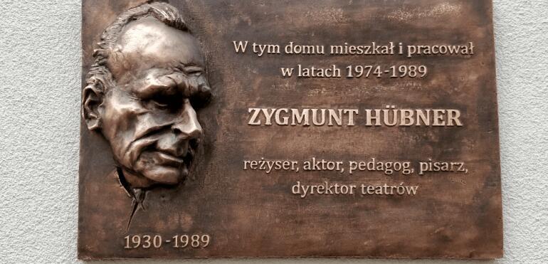 Odsłonięcie tablicy Zygmunta Hübnera