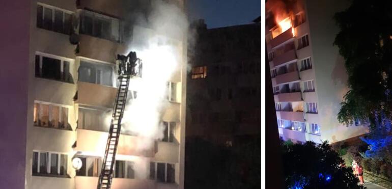 Spłonął pokój w mieszkaniu przy alei Stanów Zjednoczonych