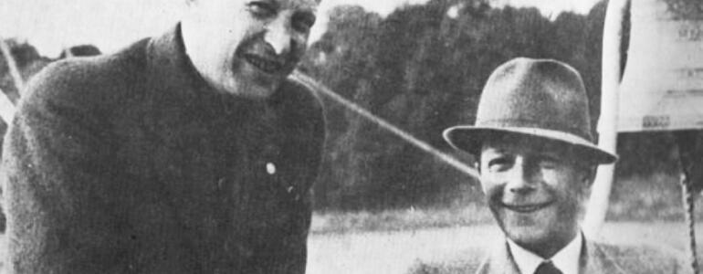 Bohdan Lachert z Józefem Szanajcą na Powszechnej Wystawie Krajowej w Poznaniu w 1929, fot. archiwum rodziny
