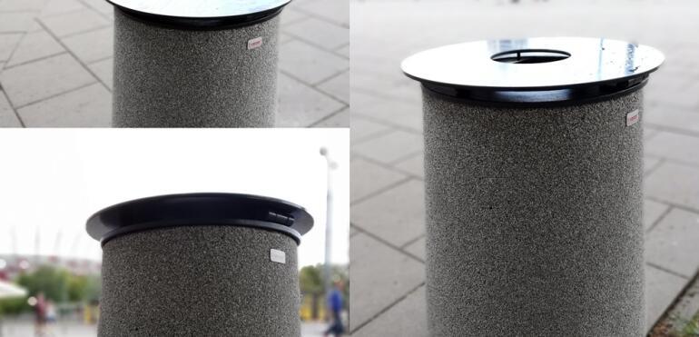Nowość na Saskiej Kępie - Zarząd Oczyszczania Miasta testuje nowy model kosza