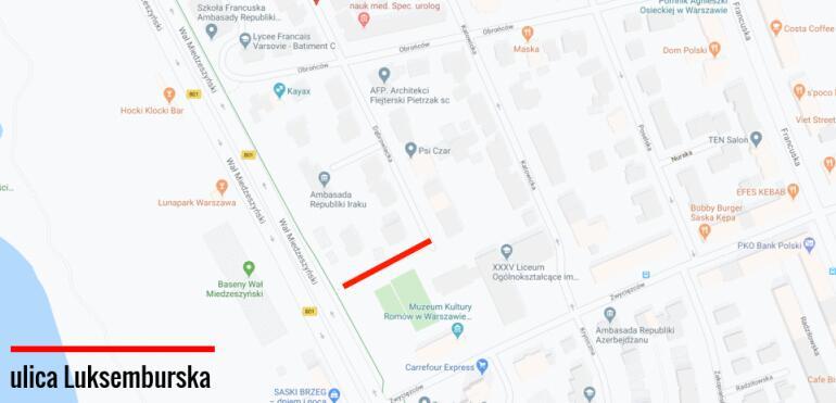 Nowa ulica na Saskiej Kępie